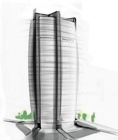 Markenhaus mit Hochgarage: Porsche plant Wohnturm für Frankfurt