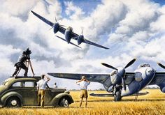 mosquito Movietone News Painting by Colin Parker