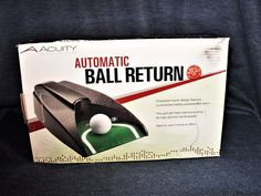 Golf Putting Practice Electric Automatic Ball Return Acuity in Original Box EUC #Acuity