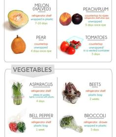 How to store fruits and veggies Healthy Eating Recipes, Healthy Cooking, Healthy Snacks, Healthy Nutrition, Eat Healthy, Healthy Living, Total Body, Money Saving Meals, Cooking 101