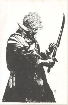 Splash Page Comic Art :: For Sale Artwork :: Guillermo Del Toro Legendary Pictures SDCC 2010 Tshirt Design by artist Tim Bradstreet