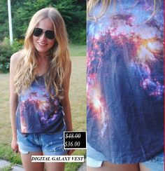 50% Discount. Digital Galaxy Vest. Now it's only.... $36.00