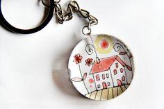 Llavero Primavera VI de Caixa de Mistos por DaWanda.com