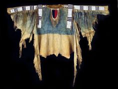 Unknown Cheyenne or Lakota artist, Man's shirt, c. 1850-60; National Cowboy & Western Heritage Museum, Oklahoma City