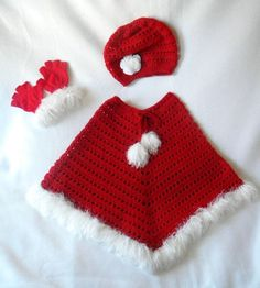 Crocheted Little Girls 5-7 years old Christmas by CatsSoftStitches