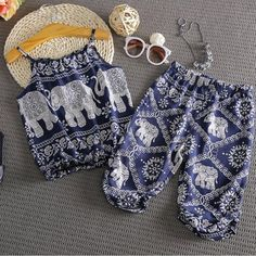 Baby Girl Fashion, Kids Fashion, Style Fashion, Baby Girl Elephant, Cute Baby Clothes, Summer Clothes, Cute Baby Girl Outfits, Cute Little Baby, Summer Baby