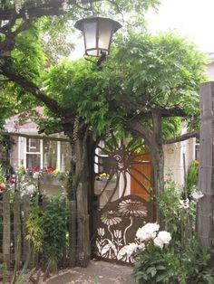 Garden Gate ~ sun and flowers
