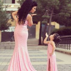 Mommy & daughter formal look! My future daughter and I are so doing this!