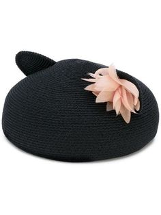 d80d39bfb42 Black cotton and hemp-blend cat ear hat from Eugenia Colour  BLACK Made in  United States Composition hemp cotton polyester