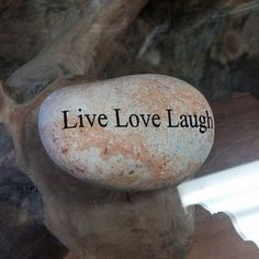 Engraved  Beach Pebble Message Stone - Live Love Laugh