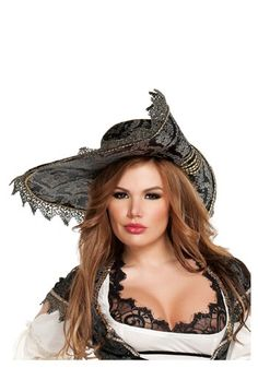 Your sexy pirate costume will be complete when you add this hidden treasure pirate hat. The sexy and soft hat will make any pirate captain shiver their timbers! Sexy Pirate Costume, Steampunk Costume, Pirate Costumes, Pirate Outfits, Renaissance Pirate, Renaissance Time, Renaissance Clothing, Pirate Woman, Lady Pirate