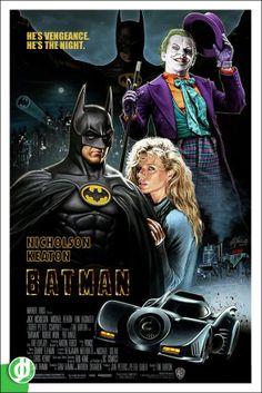 "Michael Keaton, Kim Basinger and Jack Nicholson in ""Batman"" directed by Tim Burton. Batman Y Robin, Im Batman, Batman Art, Spiderman, Batman Poster, Batman 1966, Batman Kunst, Image Film, Cinema Tv"