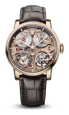From the Arnold & Son Royal Collection: Tourbillon Chronometer No. 36 - Arnold & Son_Tourbillon Chronometer No. 36 Best Picture For watch digital For Your Taste You are - Army Watches, Fine Watches, Cool Watches, Rolex Watches, Mens Designer Watches, Luxury Watches For Men, Stylish Watches For Men, Arnold Son, Tourbillon Watch