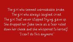 The girl is broken