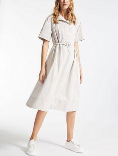 Max Mara CAPRA natural: Taffeta dress.