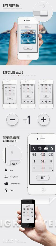 w o r k - g e e k / LightMeter App | Designer: Anton Repponen