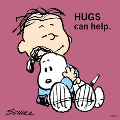 "55.3k Likes, 2,716 Comments - Snoopy And The Peanuts Gang (@snoopygrams) on Instagram: ""Hugs can help."""