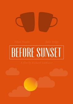 Before Sunset (2004) ~ Minimal Movie Posters by Chay Lazaro ~ #minimalmovieposters #alternativemovieposters