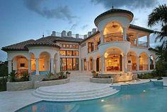 Plan W24106BG: Spanish, Mediterranean, Photo Gallery, Premium Collection, Florida, Luxury House Plans & Home Designs