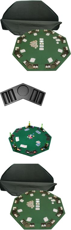 Card Tables And Tabletops 166572: Poker And Blackjack Green Table Top  Folding 8 Player Portable