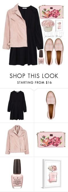 """""""style"""" by lena-volodivchyk ❤ liked on Polyvore featuring MANGO, Topshop, Dolce&Gabbana, OPI and Marmont Hill"""