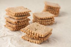 Gluten-free Multigrain Rosemary Crackers by Healthful Pursuit