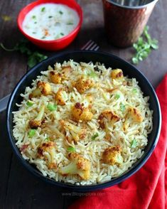 cauliflower pulao / gobi pulao recipe - flavorful and aromatic rice pulao with spiced cauliflower. An easy, quick and delicious pulao.