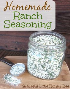 This homemade ranch seasoning tastes great and will save you money!