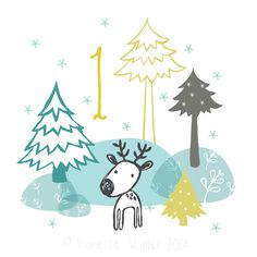It's December already. I mean, how? This year I'm doing an illustrated advent - chocolate is for wimps. Here is #1: