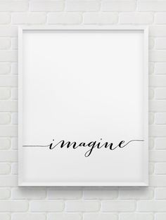 imagine print // instant download print // printable typographic wall decor // minimalistic print // the Beatles on Etsy, $7.26