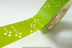 GREEN Cotton Floral Pattern MT Washi Tape SINGLE - Japanese Washi Tape
