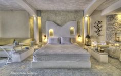 Astarte Suites Hotel #Santorini #greece #architecture #Bedroom #luxury #honeymoon