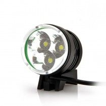 LED Bicycle Headlight + Headlamp - 2200 Lumens, Waterproof, x3 LEDs, Rechargeable Battery