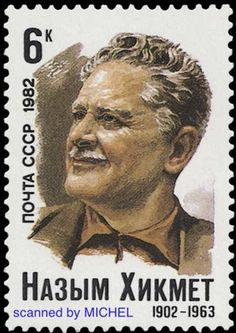 Turkey: Imprisoned For Poems http://d-b-z.de/web/2013/06/03/tuerkei-gefaengnis-nazim-hikmet-briefmarken/