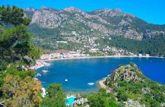 Turunc Bay - Marmaris Turkey, the sea was beautiful