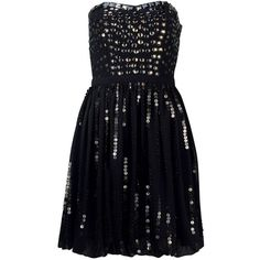Black Sequin Prom Dress ❤ liked on Polyvore