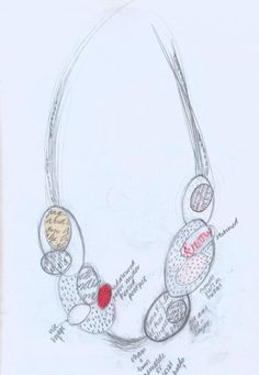 design drawing  Clare Hillerby jewellery