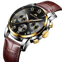 7031b697f7a Mens Watches Men Chronograph Waterproof Sports Date Calendar Luxury  Analogue Quartz Counts Wrist Watch Gents Casual Business Stopwatch Fashion  Dress Watches ...