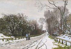 Claude Monet - La Route de la Ferme Saint-Siméon, Effet de Neige