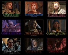 Dragon Age Alignment Chart by ~Gamer28 on deviantART