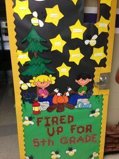 55 Ideas For Preschool Classroom Door Ideas Camping Theme Camping Bulletin Boards, Classroom Bulletin Boards, Classroom Door, Preschool Classroom, Preschool Door, Classroom Pictures, Classroom Calendar, Preschool Learning, Camping Room