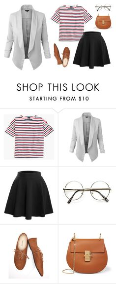 """Open Blazer Casual Look"" by le3noclothing ❤ liked on Polyvore featuring Saint James, LE3NO, Wet Seal and Chloé"