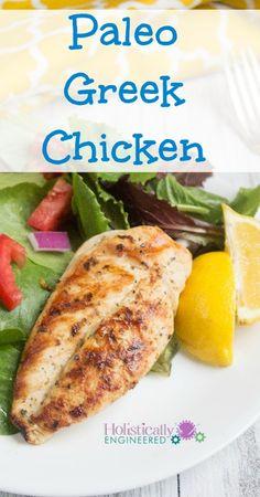 Paleo Greek Chicken - Low Carb