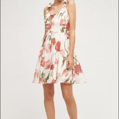 e141b770b109 Anthropologie Paper Crown Tulipa Dress L NWT