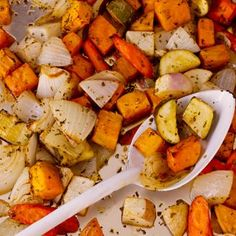 Oven-Roasted Vegetables. We LOVED these. So good. Can't wait to make them again.