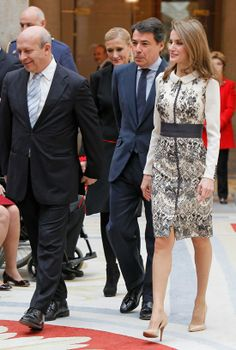 Crown Princess Letizia of Asturia award Fin Arts medal 12/10/2013
