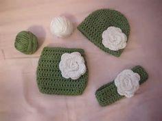Crochet Newborn Diaper Cover Set