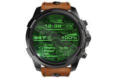「Diesel On(ディーゼルオン)」ブランドから、腕時計型の電子機器、いわゆるスマートウォッチの最新モデルが登場した。 Android Wear Smartwatch, Android Watch, Fossil Watches, Cool Watches, Watches For Men, Wear Watch, Black Apple, Casio Watch, Lady
