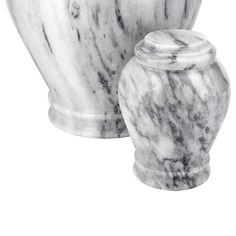 Wave Gray Marble Keepsake Urn for Ashes | Available at Stardust Memorials