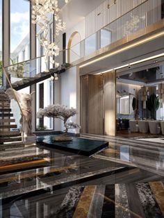 Home Stairs Design, Home Room Design, Dream Home Design, Modern House Design, Home Interior Design, Villa Design, Luxury Bedroom Design, Dream House Interior, Luxury Homes Dream Houses